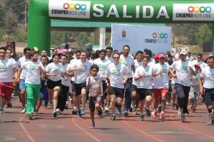 Alegría y entusiasmo en la Cruzada del Deporte en San Cristóbal de las Casas