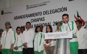 Carlos Penagos Vargas, hizo la presentación de los deportistas de las diferentes disciplinas que representarán a Chiapas