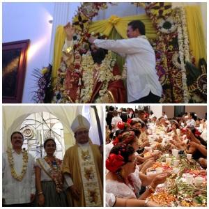 Con tradicional Ensarta de Flor de Mayo, festeja Samuel Toledo al Santo Patrono de las y los tuxtlecos