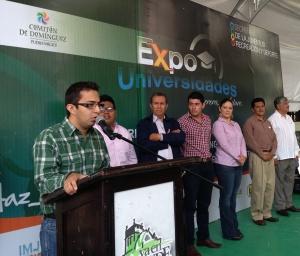 Fidel Álvarez, a nombre del titular de la SJRyD puso en marcha la Expo Universidades en Comitán