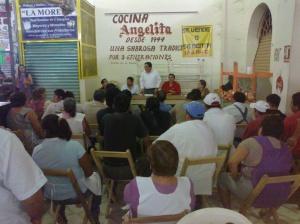 Gobierno de la Ciudad realiza asamblea con locatarios del mercado Rafael Pascacio Gamboa