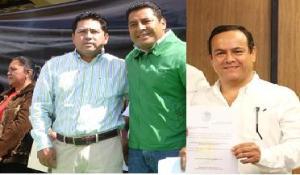 JOrge, toño y rafa unidos por la educación con Manuel  Velasco