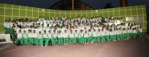 La foto oficial de la delegación Chiapas de Olimpiada Juvenil 2013