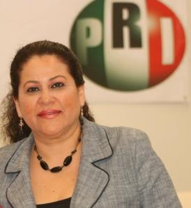 Regidora Rita Balboa, presidente del ONMPRI en Chiapas.